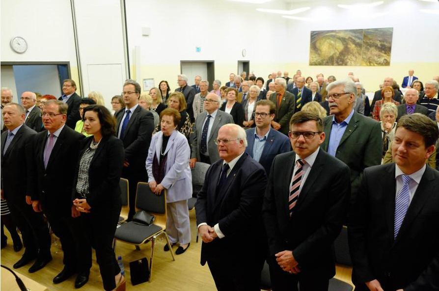 Der Kreisverband der Europa-Union (EU) feierte sein 60-jähriges Bestehen im katholischen Pfarrzentrum. Foto: Gerd Schaar