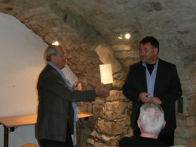 Referent Thomas Brendler und Moderator der Veranstaltung Dieter Galm