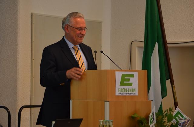 Festredner der Landesversammlung 2015 Dr. Hoachim Herrmann, byerischer Staatsminister des Innern, für Bau und Verkehr