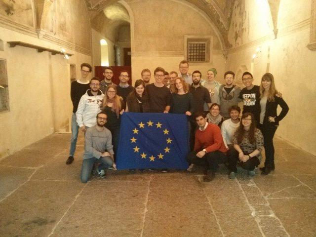 im unterirdischen Vortragssaal des Palazzo Thun