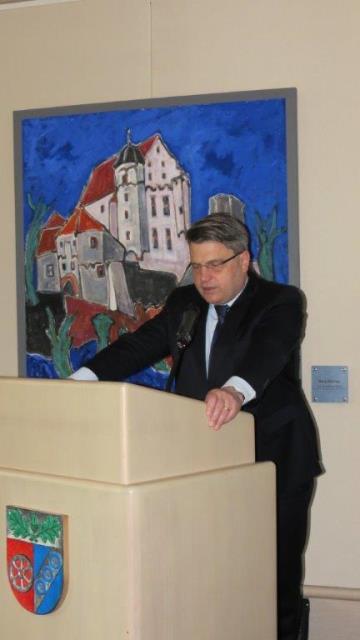 Der bayerische Justizminister Prof. Dr. Winfried Bausback aus Aschaffenburg als Referent