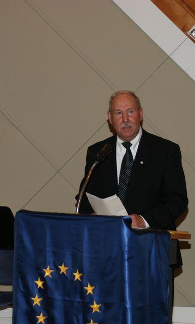 Referent und Geschäftsführer der Europa-Union Memmingen, Herr Gerd Böhler