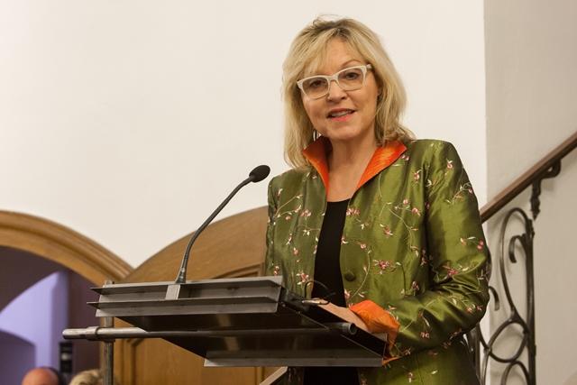 Dr. Beate Merk, bayerische Staatsministerin für Europaangelegenheiten und regionale Beziehungen, bei ihrem Staatsempfang