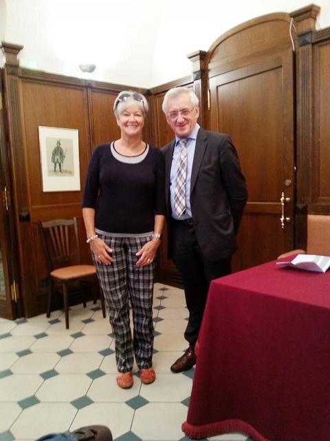 MdEP Albert Dress und Karoline Hastreiter Vorsitzende Europa-Union KV Amberg-Sulzbach